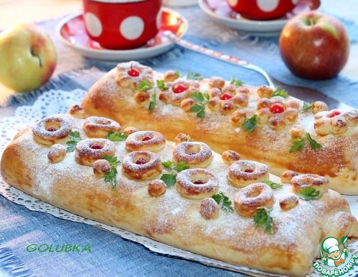 Рецепт: Ролл-пирог с начинкой