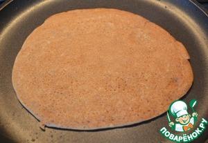 Печь по 1,5 - 2 минуты с каждой стороны, на среднем огне.    Каждый раз смазывать сковороду маслом.