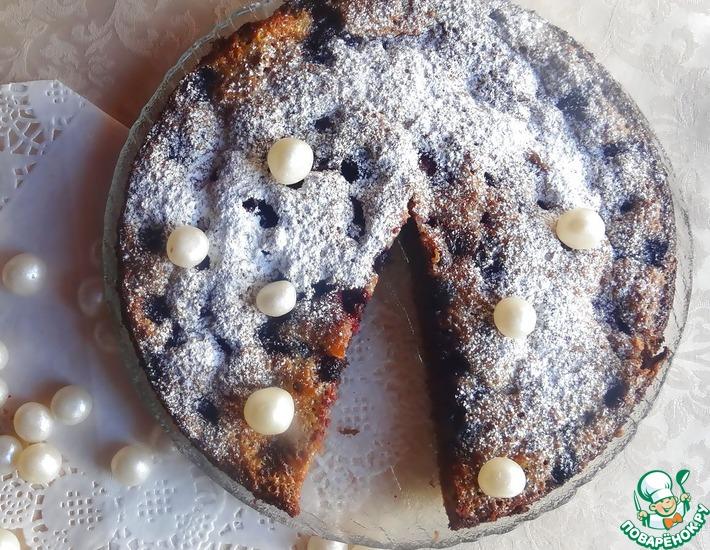 Рецепт: Шоколадно-ягодный пирог