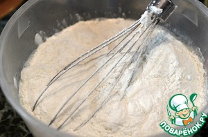 Add the flour and stir well to avoid lumps. Put in a warm place for 30 minutes.