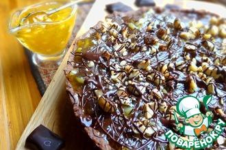 Рецепт: Шоколадный тарт с апельсиновым джемом
