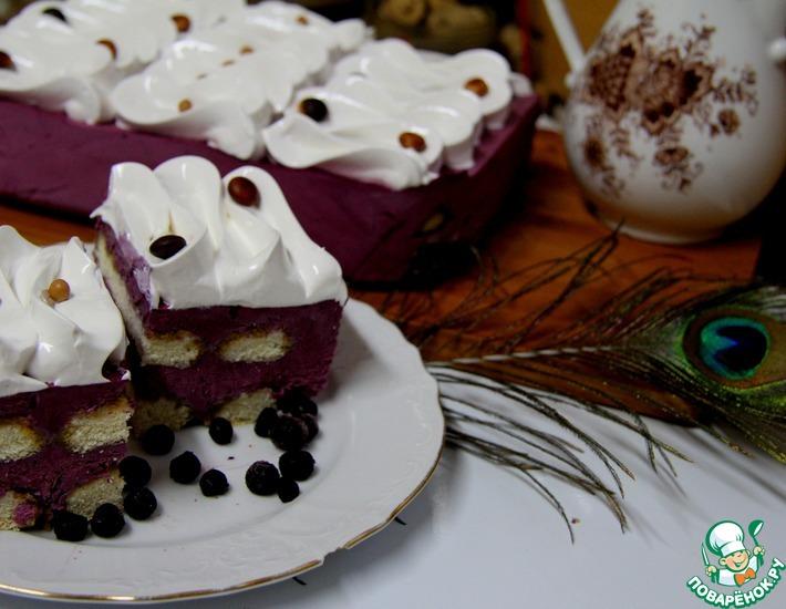 Рецепт: Черничный торт со швейцарской меренгой