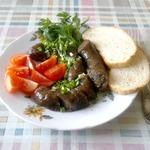 Картофельно-грибная колбаска