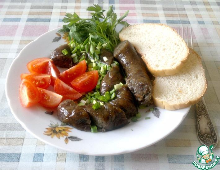 Рецепт: Картофельно-грибная колбаска