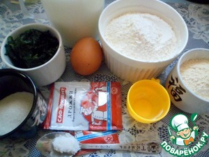 Prepare the ingredients for the spinach pancakes.