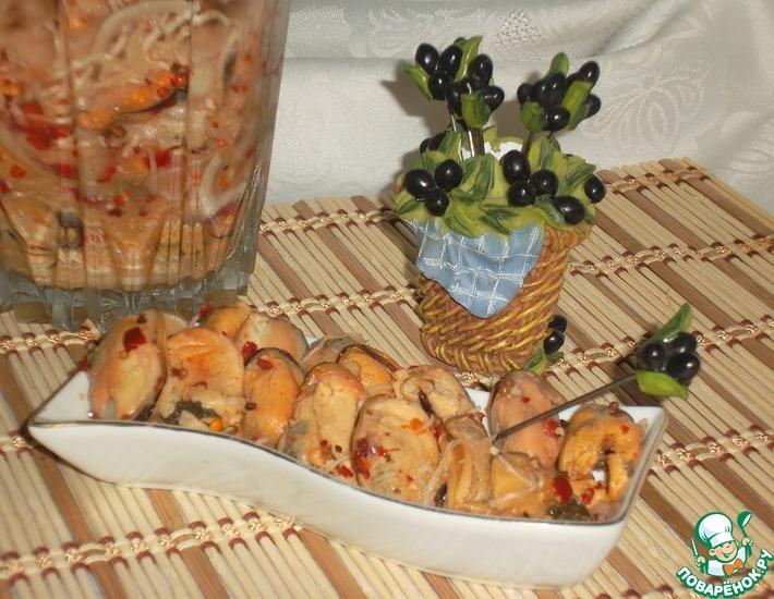 Рецепт: Мидии маринованные Женский каприз