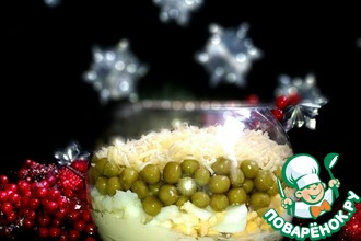 Рецепт: Салат с языком Рождественский