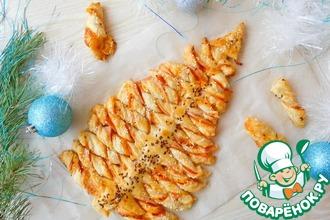 Рецепт: Новогодняя закусочная Ёлочка