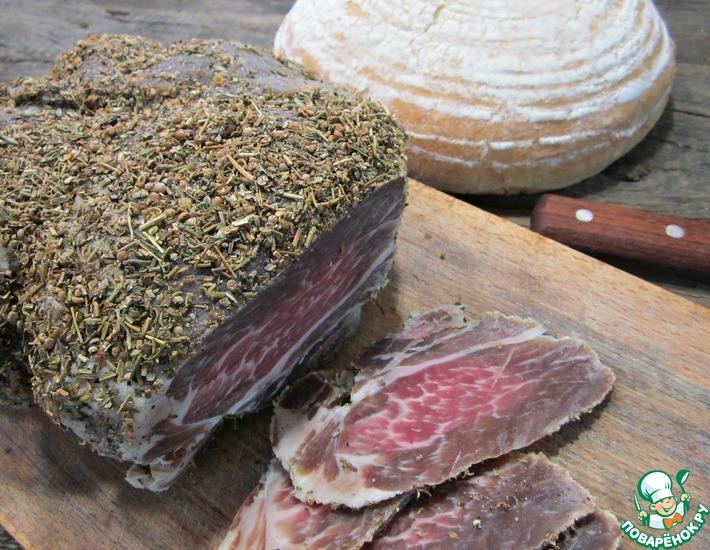 Рецепт: Мясо вяленое Мраморное