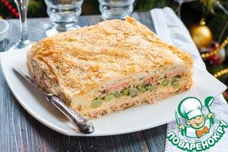 Рецепт: Рыбный пирог с тестом фило