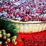 Клюквенный пирог Новогодняя сказка