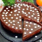 Мега-шоколадный тарт С Новым Годом