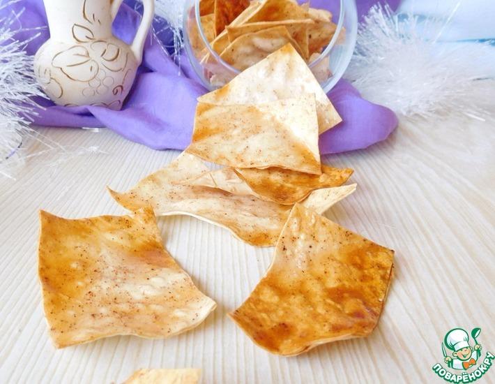 Рецепт: Сладкие чипсы из лаваша