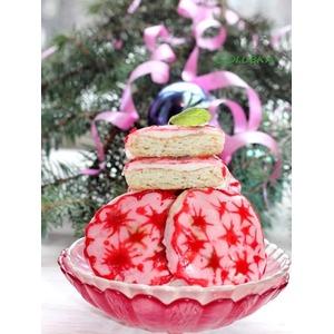 Рождественское печенье с фруктовой глазурью