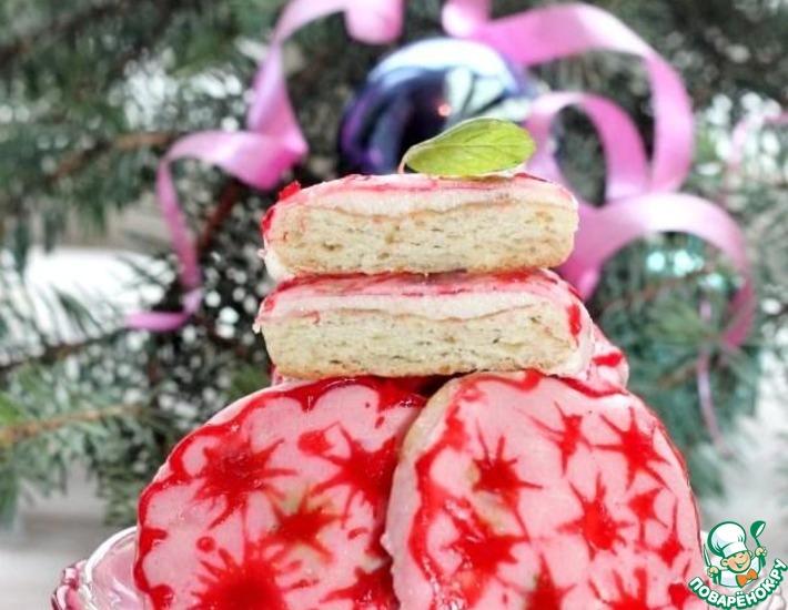Рецепт: Рождественское печенье с фруктовой глазурью