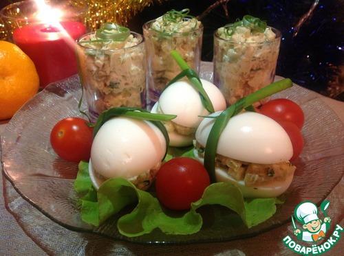 Рецепт Яйца, фаршированные картофельным салатом