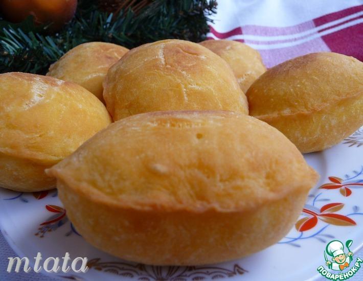 Рецепт: Пирожки из тыквенно-кефирного теста