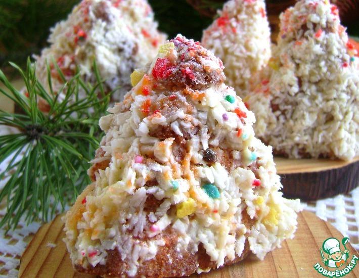 Рецепт: Мини-бисквиты «Елочки-малышки»