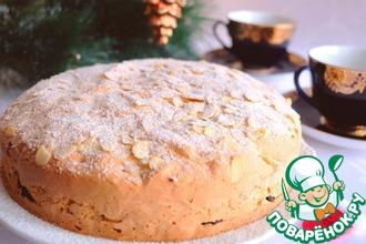 Рецепт: Бисквитный пирог с черникой