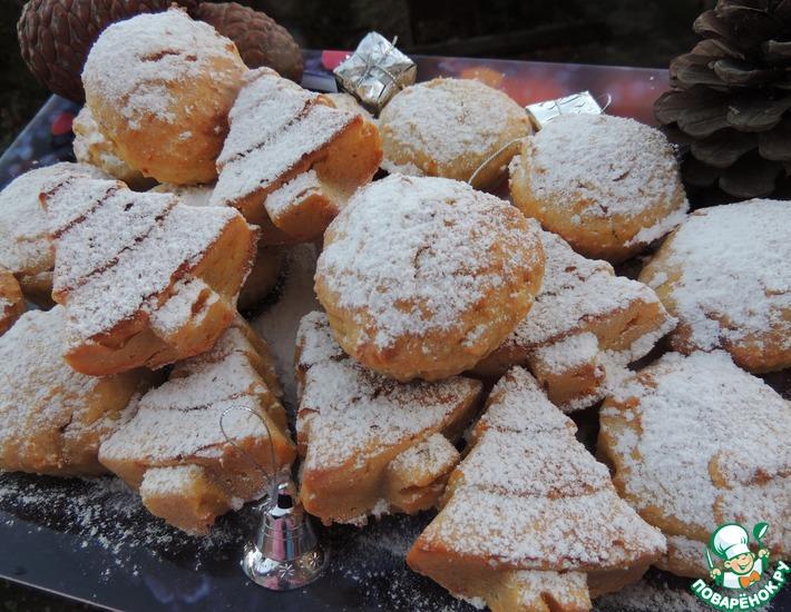 Рецепт: Мандариновые кексы с сюрпризом