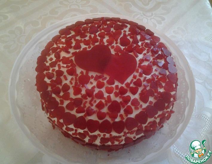 Рецепт: Рубиновый торт