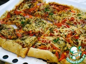 Дожидаемся готовности пиццы, солим-перчим.