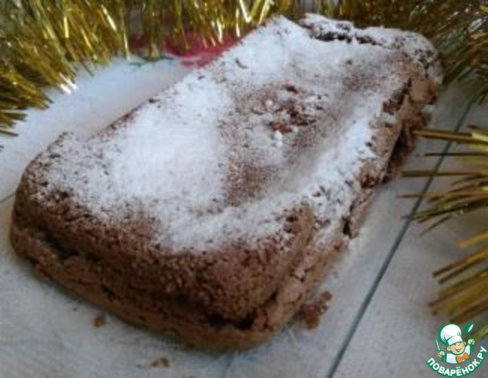 Рецепт: Рождественский безглютеновый кофейный бисквит
