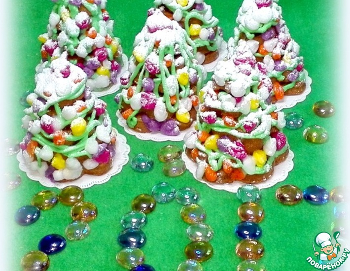 Рецепт: Печенье Рождественские ёлочки