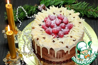 Рецепт: Торт Рождественский вечер