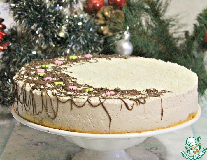 Рецепт: Торт яблочно-творожный