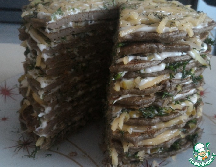 Рецепт: Печёночный торт Печёник