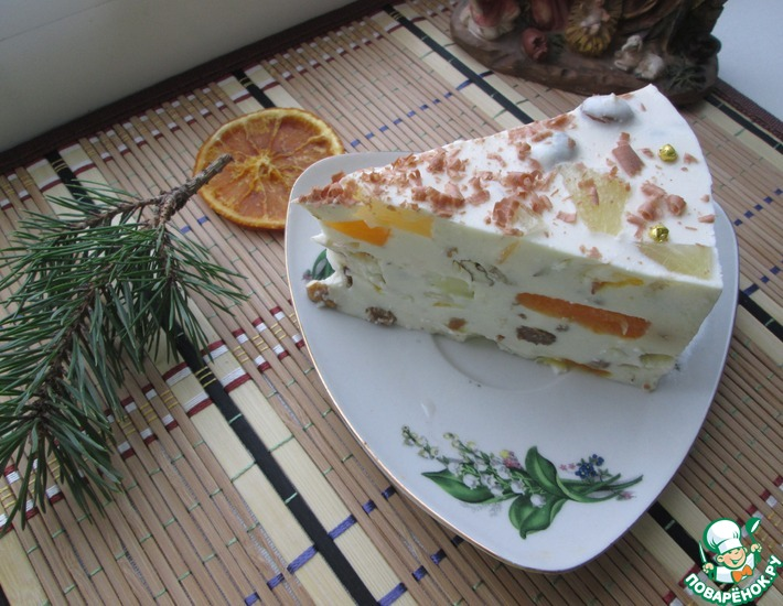 Рецепт: Творожный торт Волшебный