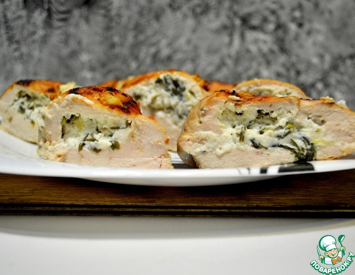 Рецепт: Куриное филе с сыром Рикотта