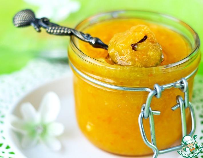 Рецепт: Безотходный мандариновый джем