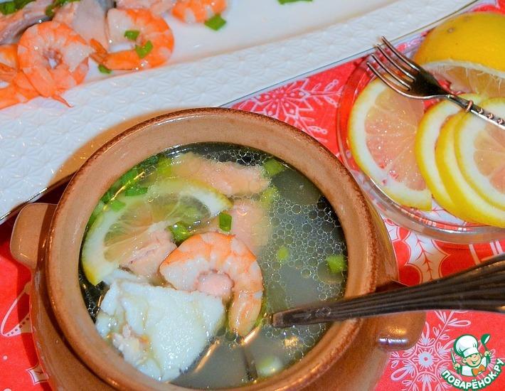 Рецепт: Суп рыбный Праздничный