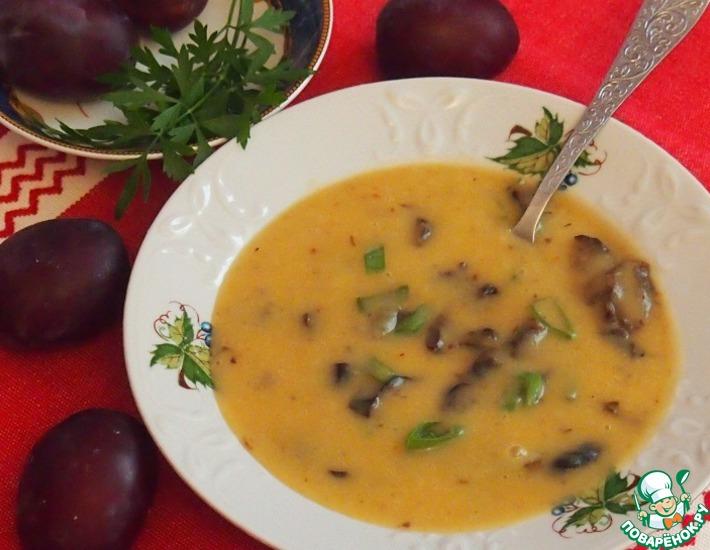 Рецепт: Фасолевый суп с черносливом