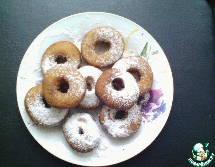 Рецепт: Пончики на кефире