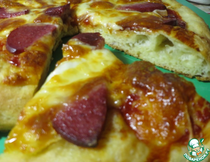 Рецепт: Тесто для пиццы без замеса