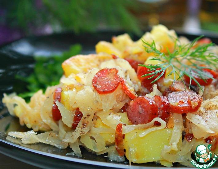 Рецепт: Теплый салат в немецком стиле