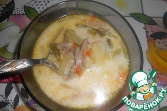 Рецепт: Рассольник с рисом и языком