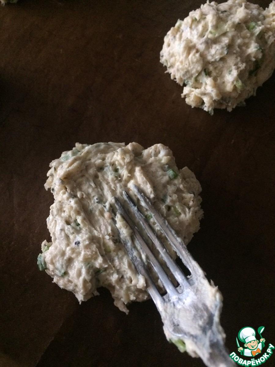 Острое печенье с зелёным луком