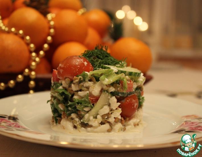 Рецепт: Салат легкий Глоток воздуха