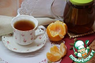 Рецепт: Чай оригинальный с кардамоном и мандаринами