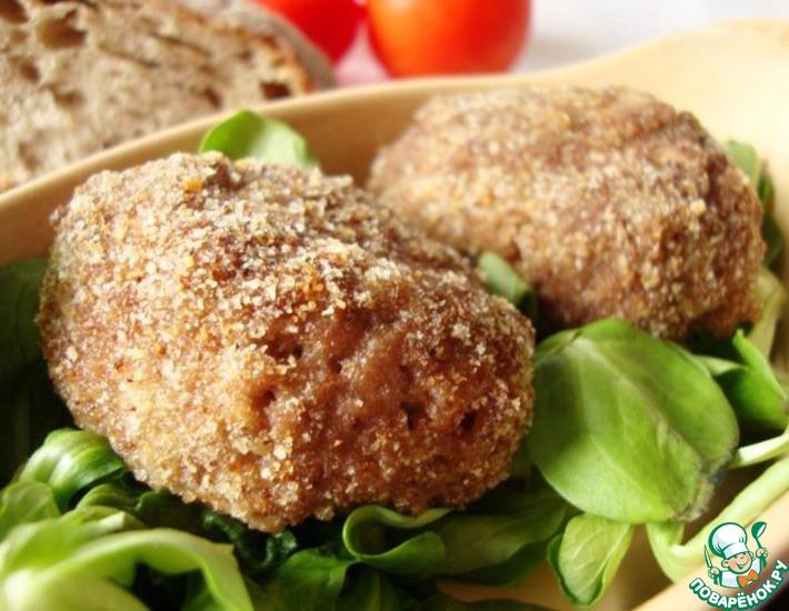 Рецепт: Мясные зразы с фруктовой начинкой