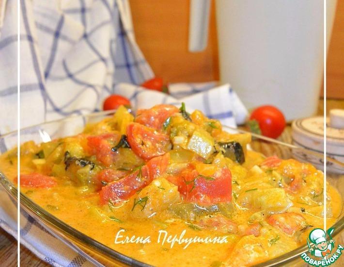 Рецепт: Сливочно-овощное рагу с пряностями