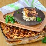 Баклажаны, запеченные с курицей и сыром