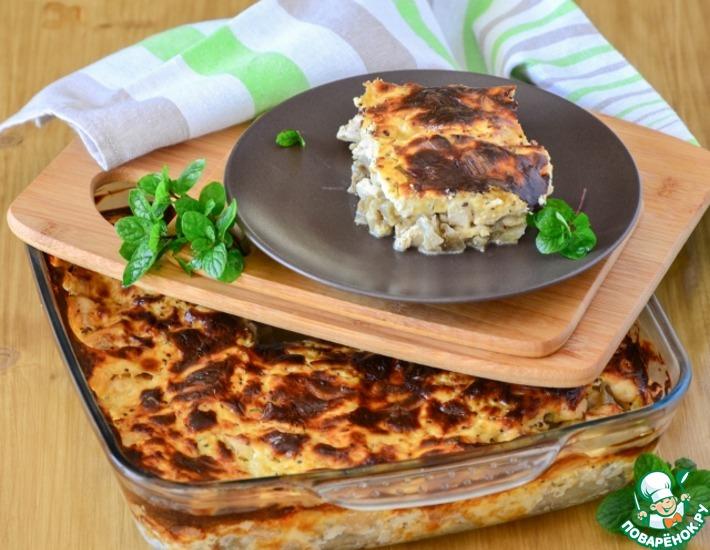 Рецепт: Баклажаны, запеченные с курицей и сыром