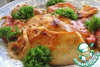 Рецепт: Запеченная тилапия на овощной подушке