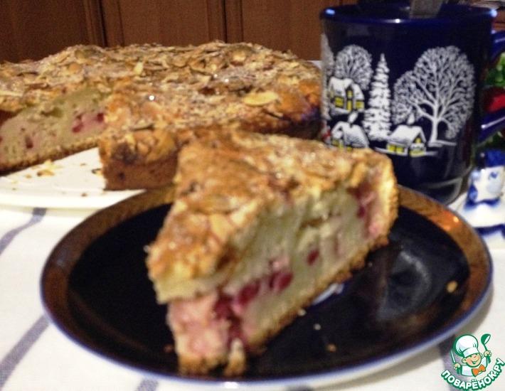 Рецепт: Сливочный пирог с красной смородиной