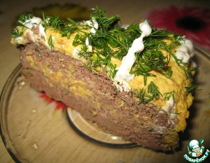 Рецепт: Диетический печеночный торт